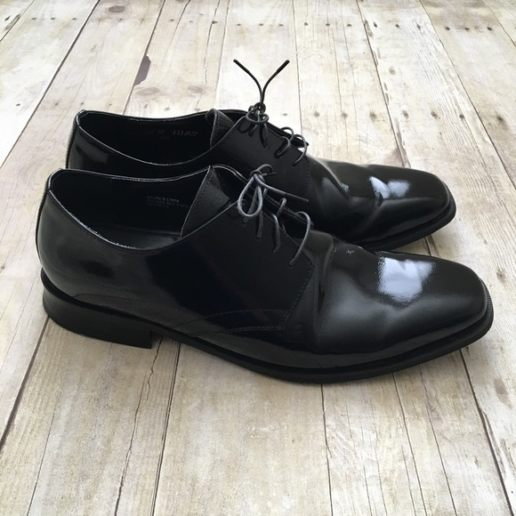Jos A Bank Shoes Shiny Black Leather Oxfords Dress Poshmark